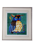 Tile Painting - Owl
