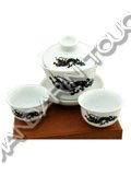 Porcelain Tea Set - Chameleon
