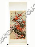 Scroll Painting - Plum Blossoms Brave Snow