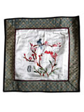 Silk Embroidery Mat - Magpie on Plum Blossom Stem