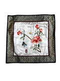 Silk Embroidery Mat - Butterfly Lovers flying among Peonies
