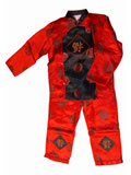 Boy's Long-Sleeved Blessing Icons Mandarin Suit