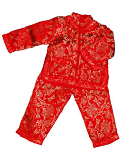 Boy's Long-Sleeved Longevity Icons Mandarin Suit