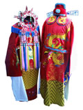 Tang Dynasty Royal Wedding Dress with Crown for Groom