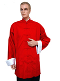 Folding Sleeves Mandarin Shirt