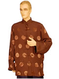 Long-Sleeved Longevity Mandarin Shirt