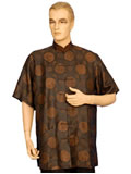 Short-Sleeved Longevity Mandarin Shirt