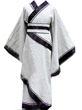 [MHF-A001-CL] Men's Long Cotton Linen Hanfu