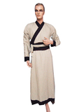 Men's Long Cotton Linen Hanfu