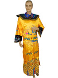 Qing Emperor Dragon Gown with Crown