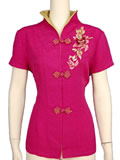Bargain Item - Short-Sleeved Peony Blouse