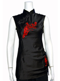 [WCY-Y007] Sleeveless Dragon and Phoenix Mandarin Blouse