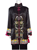 Manchu Embroidery Thai Silk Coat