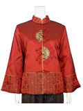 Chinese Poem Lightly Wadded Mandarin Jacket