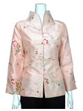 Floral Embroidery Mandarin Jacket