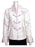 Rose Embroidery Mandarin Jacket