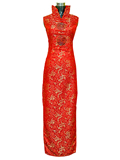 Sleeveless Dragon Embroidery Cheongsam