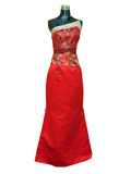 Single Strap A-line Cheongsam