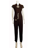 Short-Sleeved Xiangyunsha Silk Pant Suit