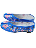 Chinese Lotus Brocade Embroidery Shoes